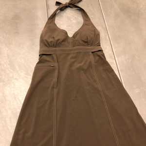 Athleta Sz 4 Pack Everywhere Halter Dress - Brown